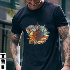 American Flag Sunflower Independence Day July 4th Vintage T Shirt