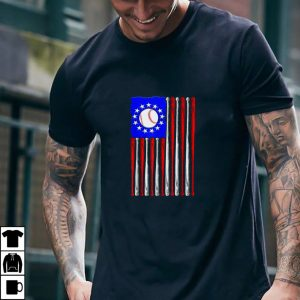 American Flag Vintage Baseball Bat Betsy Ross USA Flag Gift T Shirt