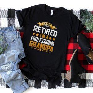 Grandpa Top For Men Funny Fathers Day Retired Grandpa T Shirt