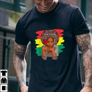 Juneteenth melanin queen black word art woman T Shirt