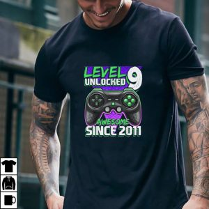 Level 9 Unlocked Awesome 2011 Video Game 9th Birthday Gift T Shirt