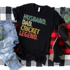 Mens Husband Dad Cricket Legend Shirt Funny Father's Day Gift T Shirt