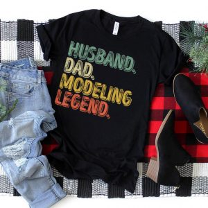 Mens Husband Dad Modeling Legend Shirt Funny Father's Day Gift T Shirt