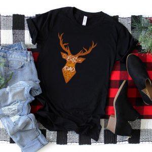 Mens Mens Best Buckin' Dad Ever Deer Hunter T Shirt