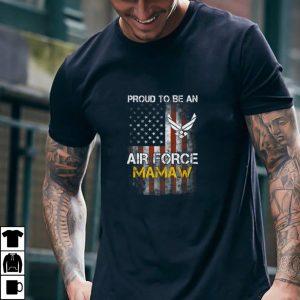 Proud Air Force Mamaw Funny American Flag T Shirt T Shirt