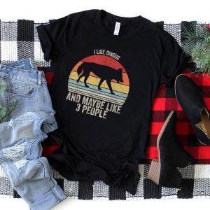 Vintage Retro I Like Dingos & Maybe Like 3 People Dingo T Shirt