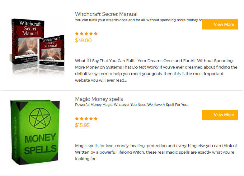 Witchcraft Products
