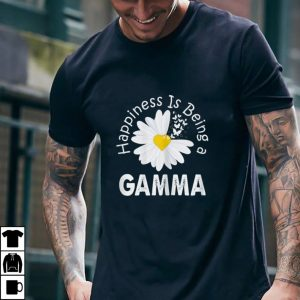 Womens Happiness Is Being A Gamma Costume Daisy Flower Gift T Shirt
