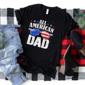 4th of July and Independence day for awesome dad gift T Shirt