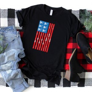 4th of july american patriotic usa flag funny BBQ grilling T Shirt