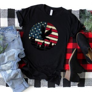 Awesome Eagle Usa Flag For 4th of July Usa Merica Bird Lover T Shirt
