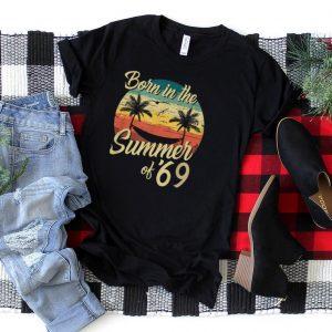 Vintage Born In The Summer Of 1969 Retro Birthday T Shirt