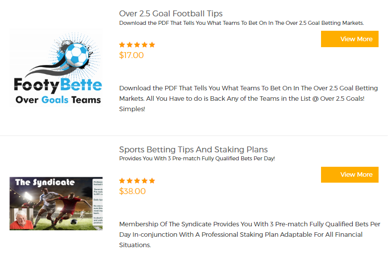 Football - Betting Systems Products